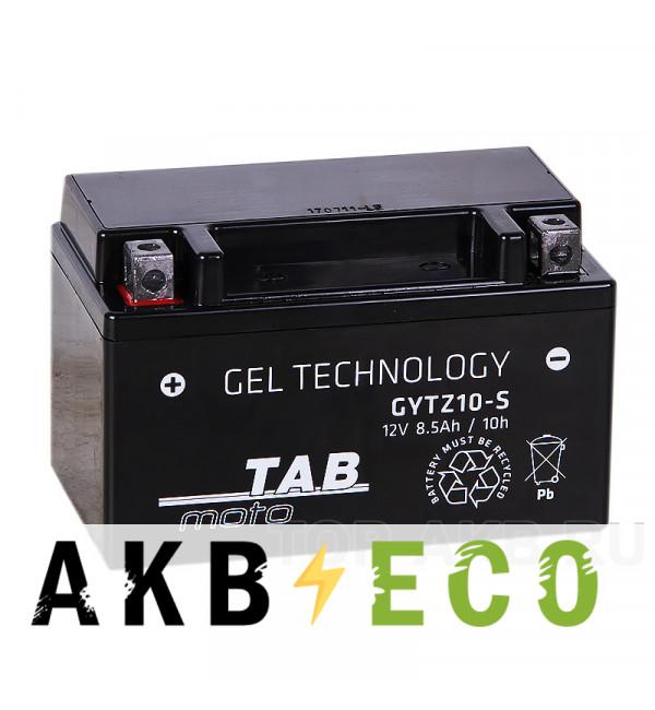Мотоциклетный аккумулятор TAB Moto GEL GYTZ10S 12V 8.5Ah 110A (150х87х93) прям. пол.