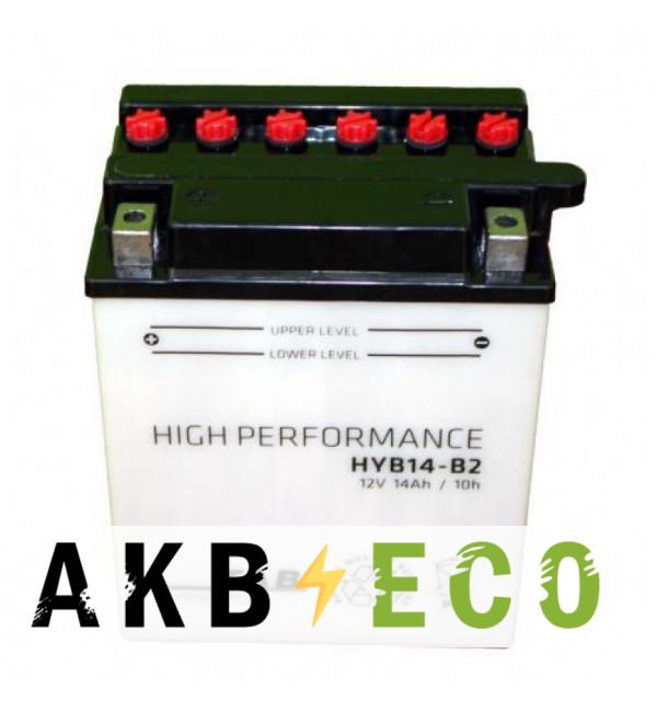 Мотоциклетный аккумулятор TAB Moto High performance HYB14-B2 (194515) 12V 14Ah 160A (134x89x166) прям. пол. сухоз.