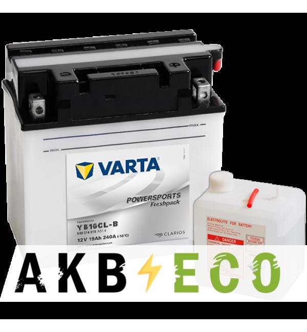 Мотоциклетный аккумулятор VARTA Powersports Freshpack 12V 19Ah 240А (176x101x176) обр. пол. 519 014 018, сухозар.
