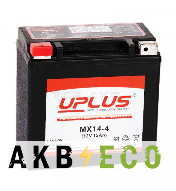 Аккумулятор для скутера Uplus MX14-4 12V 12Ah 230А прям. пол. (150x87x145) Power Sport