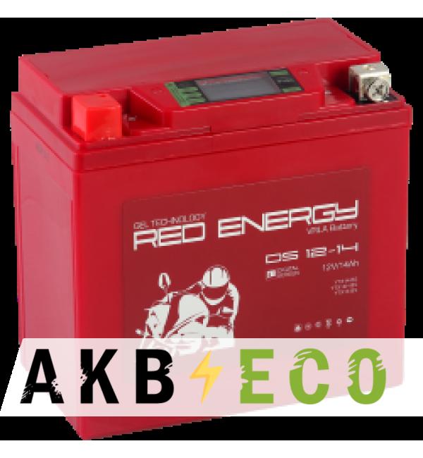Аккумулятор для скутера Red Energy DS 1214, 12V 14Ач 210А (151x88x147) YTX14-BS, YTX14H-BS, YTX16-BS, YB16B-A