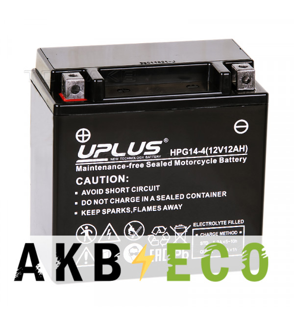 Аккумулятор для скутера Uplus HPG14-4 12V 12Ah 200А прям. пол. (150x87x145) Nano GEL