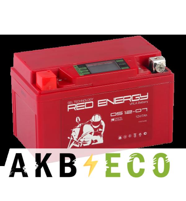 Мотоциклетный аккумулятор Red Energy DS 1207, 12V 7Ah 110А, (150x86x94) YTX7A-BS