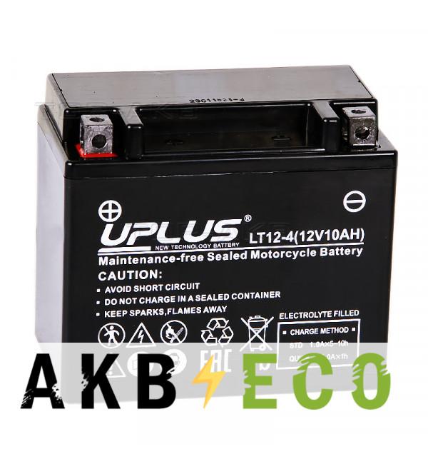 Мотоциклетный аккумулятор Uplus LT12-4 12V 10Ah 180А прям. пол. (150x87x130) Super Start AGM