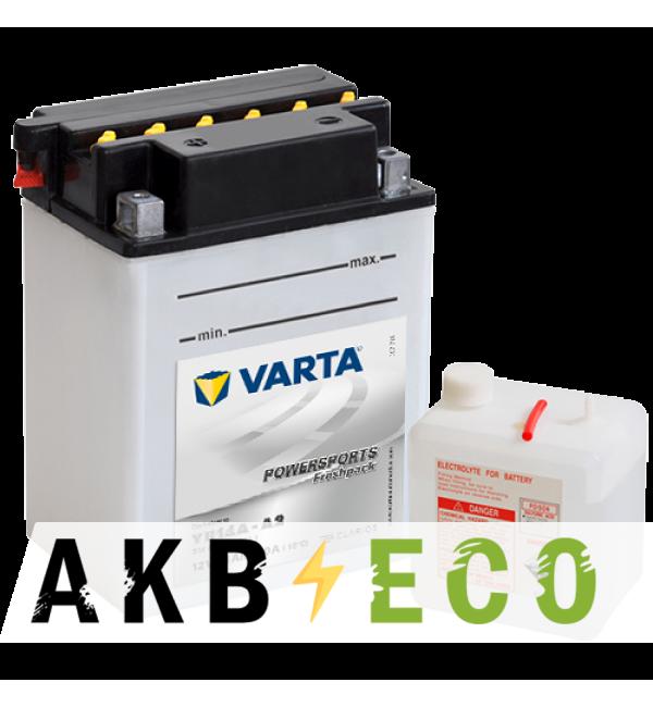 Мотоциклетный аккумулятор VARTA Powersports Freshpack YB14A-A2 12V 14Ah 190А (134x89x176) прям. пол. 514 401 019, сухозар.