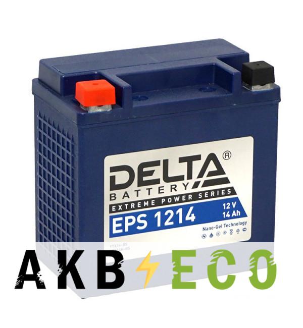 Аккумулятор для скутера Delta EPS 1214, 12V 12Ah, 220А (149x87x144) YTX14-BS, YTX14H-BS прямая пол.