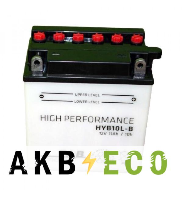 Мотоциклетный аккумулятор TAB Moto High performance HYB10L-B (186515) 12V 11Ah 140A (134x90x145) обр. пол. сухоз.