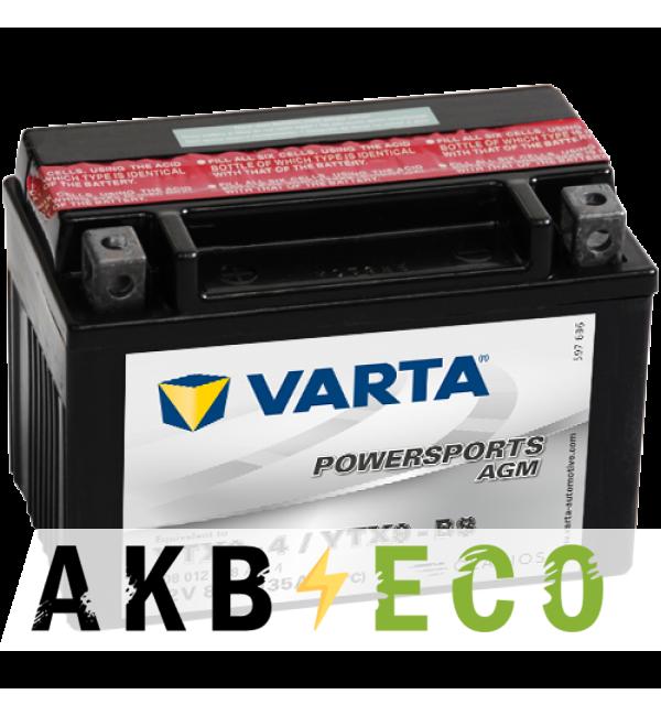 Мотоциклетный аккумулятор VARTA Powersports AGM YTX9-4/YTX9-BS 12V 8Ah 135А (152x88x106) прямая пол. 508 012 008, сухозар.
