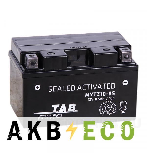 Мотоциклетный аккумулятор TAB Moto Maintenance free MYTZ10-BS 12V 8.5Ah 130A (150х88х93) прям. пол. AGM