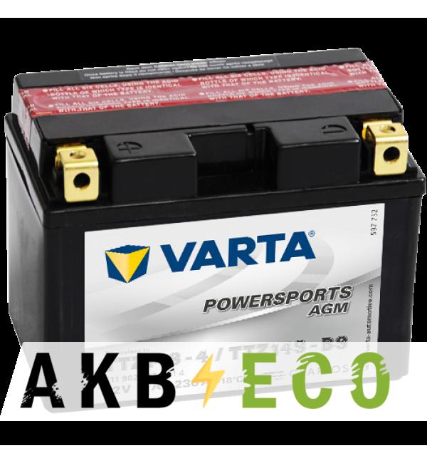 Мотоциклетный аккумулятор VARTA Powersports AGM TTZ14S-4 12V 11Ah 230А (150x87x110) п/п 511 902 023, сух.