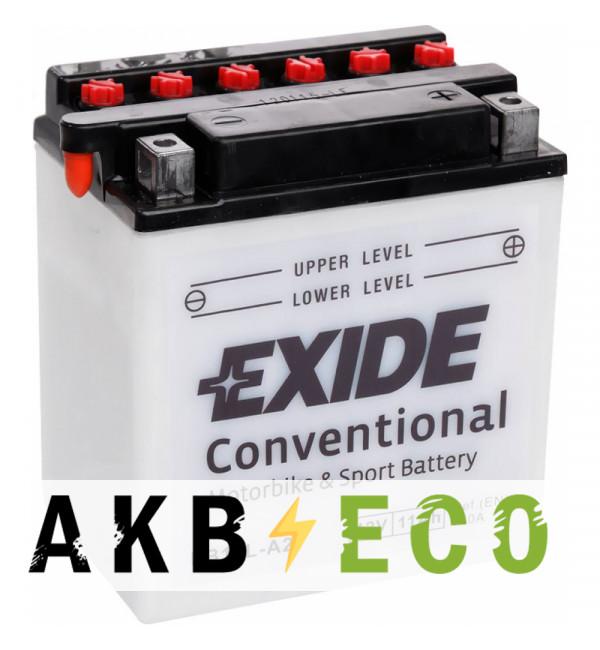 Мотоциклетный аккумулятор Exide Conventional EB10L-A2 12V 11Ah 130A (135x90x145) обр. пол. (сухоз.)