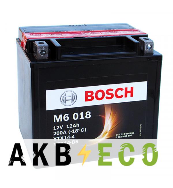 Мотоциклетный аккумулятор Bosch Moto AGM 12 Ач 200А (152x88x147) M60180 прямая пол.