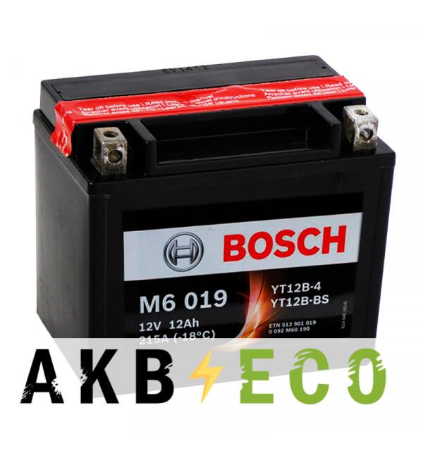 Мотоциклетный аккумулятор Bosch Moto AGM 12 Ач 215А (151x70x131) M60190 прямая пол.
