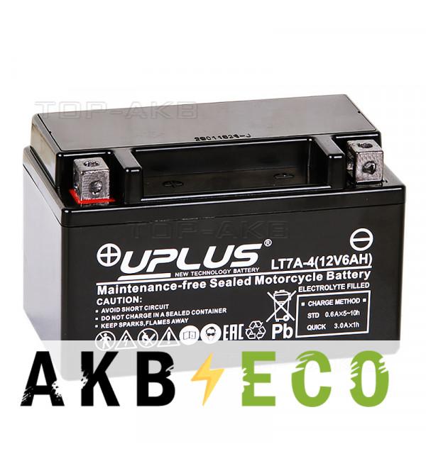 Мотоциклетный аккумулятор Uplus LT7A-4 12V 6Ah 90А прям. пол. (150x87x93) Super Start AGM