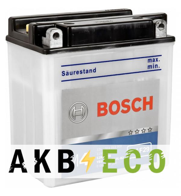 Мотоциклетный аккумулятор Bosch Moto FP 11 Ач 90А (136x91x146) YB10L-B, M4F290, обратная пол.