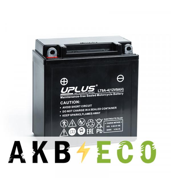 Мотоциклетный аккумулятор Uplus LT9A-4 12V 9Ah 120А прям. пол. (135x75x139) Super Start AGM