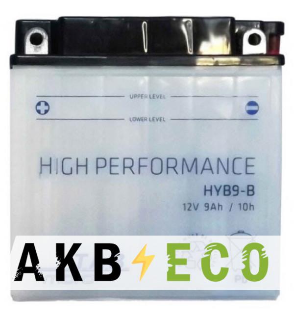 Мотоциклетный аккумулятор TAB Moto High performance HYB9-B (183515) 12V 9Ah 90A (135х75х139) прям. пол. сухоз.