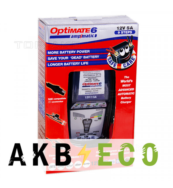Зарядное устройство Optimate 6 (1x0.4-5.0A, 12 V) TM180SAE