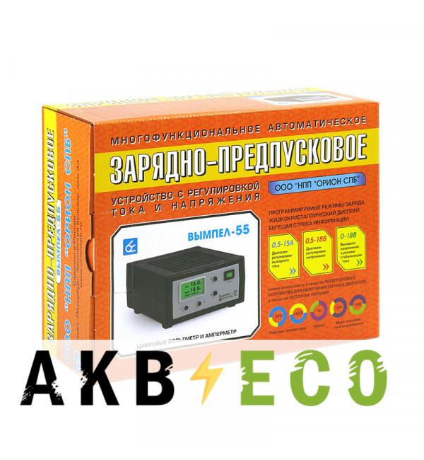 Зарядное устройство Вымпел 55 (автомат, 0.5-15А, 0.5-18В жк дисплей)
