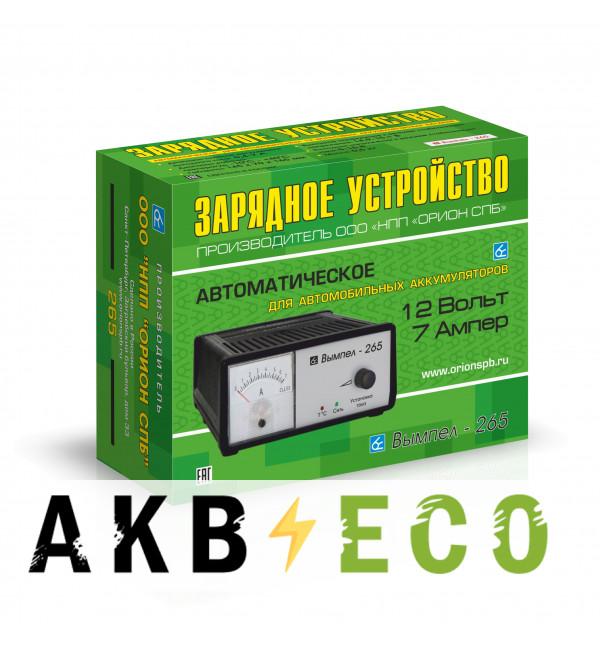 Зарядное устройство Вымпел 265 (автомат/ручн, 0-7A, 12В, стрелочный амперм.)