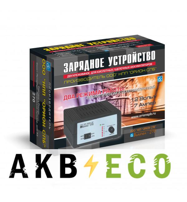 Зарядное устройство Вымпел 270 (автомат/ручн, 0-7A, 15-19В, линейный амперм.)