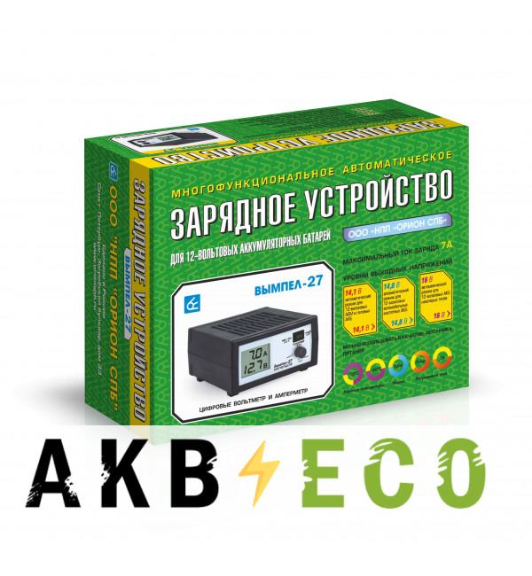 Зарядное устройство Вымпел 27 (автомат, 0-7А, 14.1/14.8/16В жк индикатор)