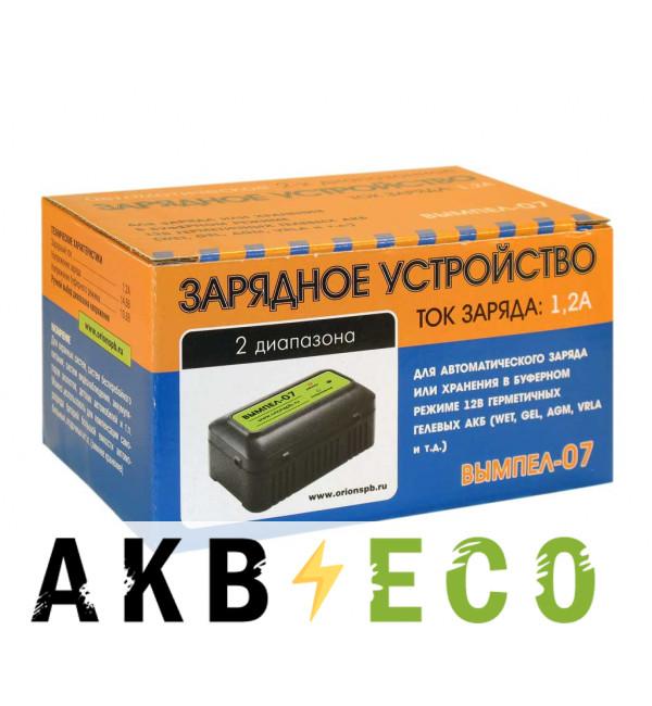 Зарядное устройство Вымпел 07 (автомат, 1.2А, 12В для гелевых и кислотных АКБ)